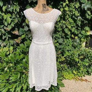 NWT SUE WONG Eyelet Dress, 14
